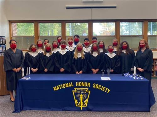 National Honor Society inductees