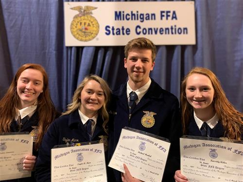 FFA State Degree Recipients receive their degrees